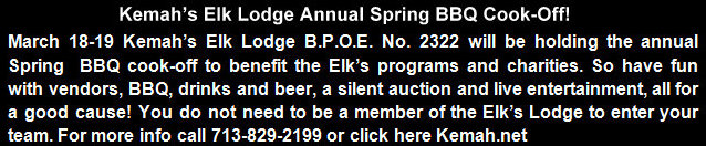 March 18-19 Kemah's Elk
