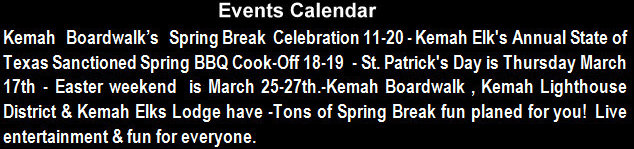 Mark you Calendars Kemah